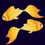 Goldene Fische des smiley Stockbilder
