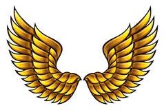 Goldene Flügel. lizenzfreie abbildung