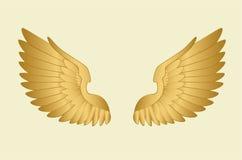 Goldene Flügel Lizenzfreie Stockbilder