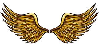 Goldene Flügel stock abbildung