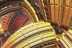 Goldene Formen lizenzfreie stockbilder