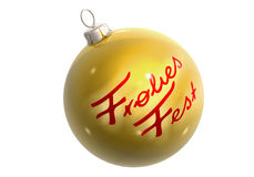 goldene frohes christbaumkugel fest бесплатная иллюстрация
