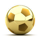Goldene Fußballkugel Lizenzfreie Stockfotos