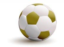 Goldene Fußballkugel Stockfotografie