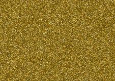 Goldene Funkelnbeschaffenheit, die aus kleinen Sternen besteht Stockbilder