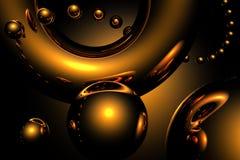 Goldene funkelnde Kugeln Stockfotografie