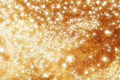 Goldene funkelnde Leuchten Lizenzfreies Stockbild