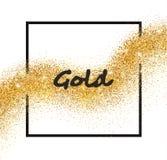 Goldene Funkelnsternschnuppe des Vektors Stockfotos