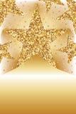 Goldene Funkelnsternweisen-Kartenschablone Lizenzfreie Stockbilder