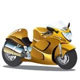 Goldene gelbe Superbike-Karikatur Lizenzfreie Stockfotos