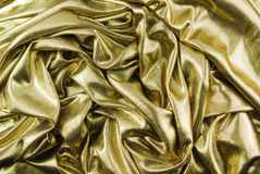 Goldene Gewebebeschaffenheit Stockfotografie
