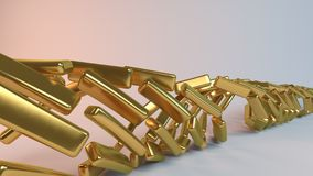 Goldene gewundene Zusammenfassung 3D Lizenzfreies Stockbild