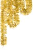 Goldene Girlande Stockbild