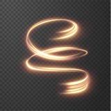 Goldene glänzende Linien Vektorhintergrund EPS10 Stockfotografie