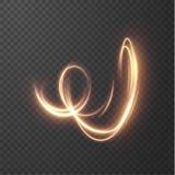 Goldene glänzende Linien Vektorhintergrund EPS10 Lizenzfreie Stockfotografie