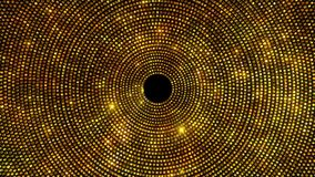 Goldene Glitterin-Kreise lizenzfreie abbildung