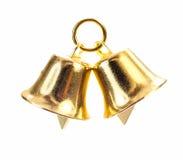 Goldene Glocke auf weißem Hintergrund Lizenzfreie Stockfotografie