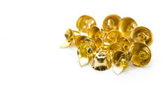 Goldene Glocke auf weißem Hintergrund Stockfoto