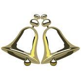 Goldene Glocken Stockbild