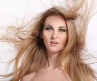 Goldene Haar-Schönheit Stockfoto