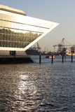 Goldene Hafenszene Stockbild