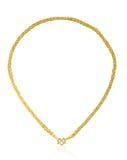 Goldene Halskette Lizenzfreie Stockfotos