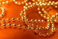 Goldene Halskette Stockfotografie