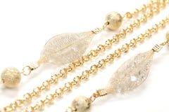 Goldene Halskette Stockbild