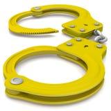 Goldene Handschellen stock abbildung