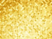 Goldene Hintergrundmosaikfliesenbeschaffenheit Stockfotos