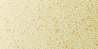 Goldene Hintergrundschablone des Weihnachtsfeiertags für Grußkarten- oder -geschenkpackpapierdesign Vektorgoldzusammenfassungsmus Stockfotografie