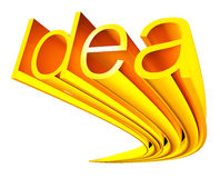 Goldene Idee Lizenzfreie Stockfotografie