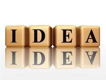 Goldene Idee mit Reflexion Lizenzfreies Stockbild