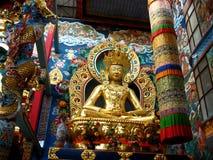Goldene Ikone von Buddha-III Lizenzfreies Stockfoto