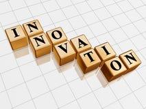 Goldene Innovation Lizenzfreie Stockbilder