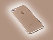 Goldene iPhone 7 neues Apple-Produkt Lizenzfreies Stockbild