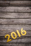 Goldene 2016-jährige Zahl Lizenzfreie Stockbilder