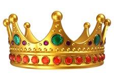 Goldene königliche Krone lizenzfreie abbildung