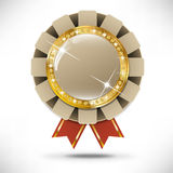 Goldene Kasinofahne lizenzfreie abbildung