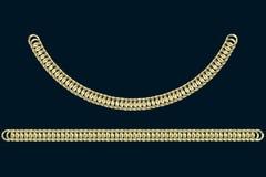 Goldene Ketten auf einem dunkelblauen Hintergrund lizenzfreie stockbilder