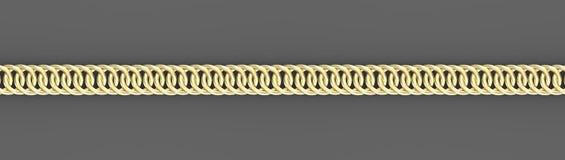 Goldene Ketten auf grauem Hintergrund 3d übertragen vektor abbildung