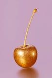 Goldene Kirsche auf einem rosa Hintergrund Lizenzfreie Stockfotos
