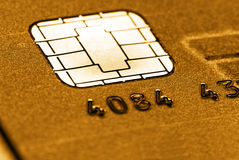 Goldene Kreditkarte Lizenzfreies Stockfoto