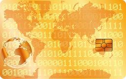 Goldene Kreditkarte Lizenzfreie Stockfotos