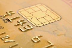 Goldene Kreditkarte Stockbild