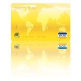 Goldene Kreditkarte-Digital-Abbildung lizenzfreie stockfotos