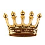 Goldene Krone getrennt auf Weiß lizenzfreie stockbilder