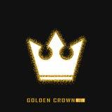 Goldene Krone, wenn Art gefunkt wird Kalte Funkelnbeschaffenheit Stockfotos