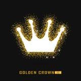 Goldene Krone, wenn Art gefunkt wird Kalte Funkelnbeschaffenheit Lizenzfreie Stockfotografie