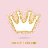Goldene Krone, wenn Art gefunkt wird Kalte Funkelnbeschaffenheit Goldenes glo Stockbilder